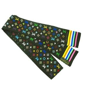 Louis Vuitton Accessories - LOUIS VUITTON Multicolore Monogram Silk Bandeau
